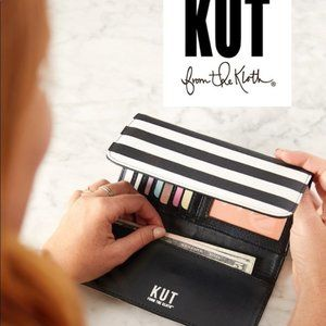 KUT FROM THE KLOTH Slim Vegan Faux Leather Wallet